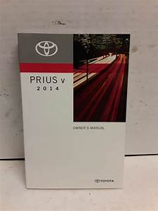 2014 Toyota Prius V Owners Manual Guide Book By Toyota