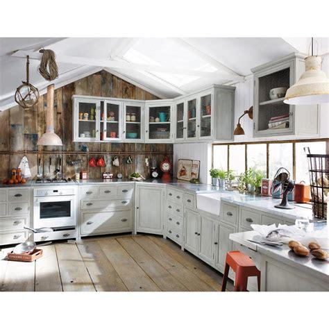 cucina maison du monde grigio arredamento shabby