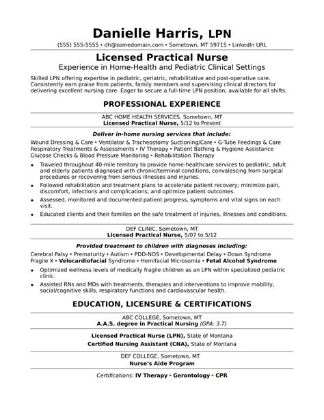 Lpn Nursing Resume by Need To Revive Your Licensed Practical Resume Check