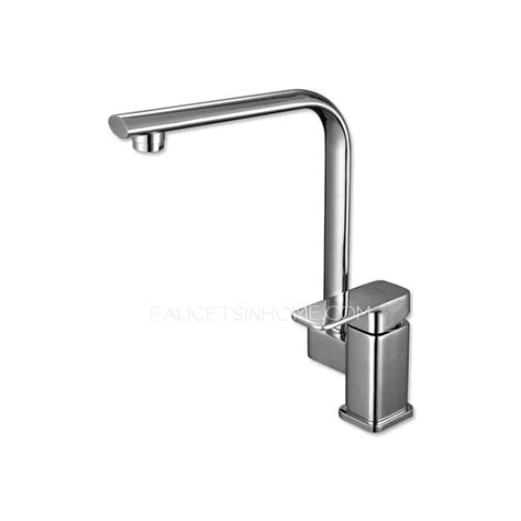 modern square shaped single handle kitchen faucets