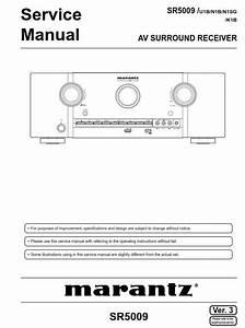 Marantz Sr5009 A  V Receiver Service Manual And Repair