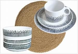 Set De Table Paille : o trouver de la vaisselle en noir et blanc joli place ~ Teatrodelosmanantiales.com Idées de Décoration