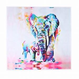 Tableau Coloré Moderne : mode aquarelle elephant oil color moderne peinture abstraite d 39 art oeuvre toile peinte home ~ Teatrodelosmanantiales.com Idées de Décoration