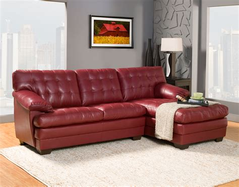 red sectional sofa with chaise furniture contemporary red vinyl chaise sofa with tufted