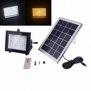 Solar power led outdoor flood light with remote control