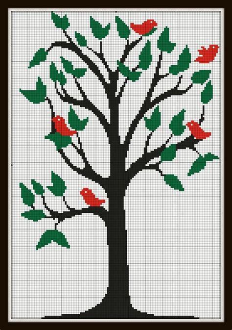 Tree Silhouette Cross Stitch Patterns