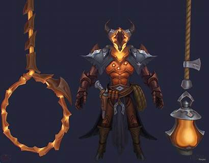 Thresh Noon Concept Legends Artstation League Skins