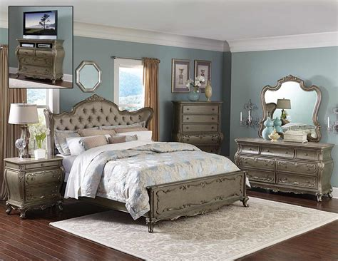 homelegance florentina bedroom set silvergold