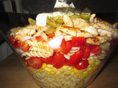 salade de pates au poulet