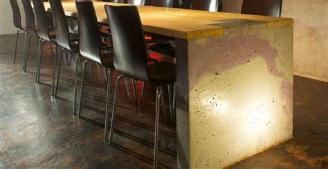 concrete table wall  bar  sean dunston concrete