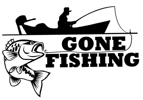 All Fishing Boat Brands by Gone Fishing Sticker Decal Brand New For Car Trailer 4wd