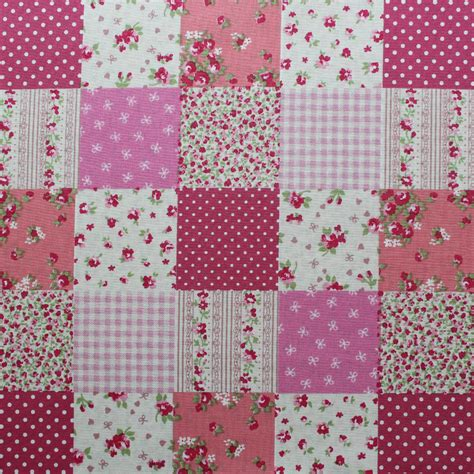 rose patchwork pink overdale fabrics