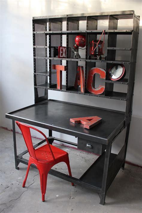 bureau atelier industriel meuble metier grand bureau tri postal industriel atelier loft