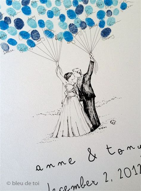 wedding guest book alternative custom couple drawing