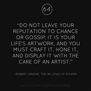 50 best 48 Laws... Reputation Worth Quotes