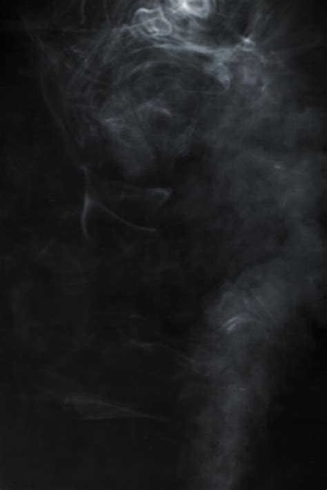 Black Background With Smoke Black Background With Blurred Smoke Photo Free