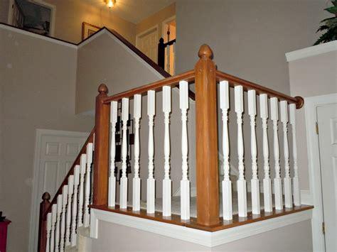 Remodelaholic  Diy Stair Banister Makeover Using Gel Stain