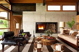 Residential Design Inspiration  Cozy Modern Fireplaces