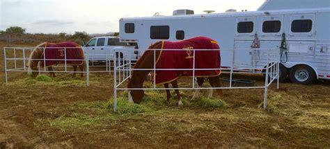 corrals trailer corral portable panel travel go panels rack horses fold horse hangers traveling built