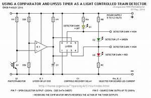 Phototransistor    Comparator    Lm555 Timer