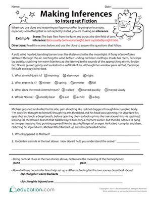 inference worksheets  grade   worksheets image