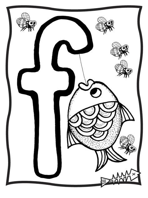 Coloring Letter F by Letter F Coloring Pages Getcoloringpages