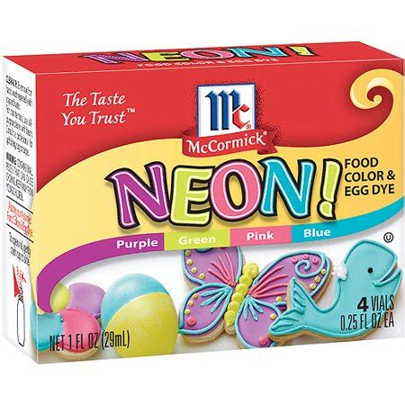 food coloring at walmart mccormick specialty extracts neon assorted food colors