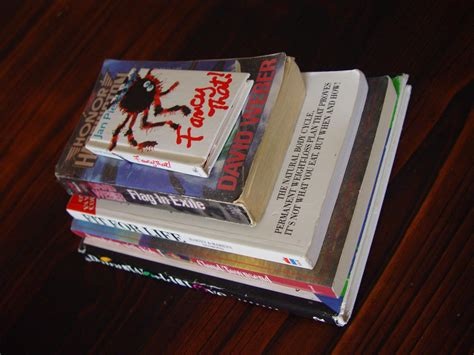 picture stack books table