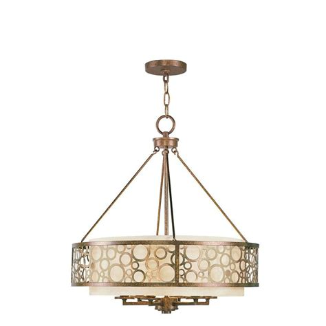 livex lighting 6 light palatial bronze incandescent