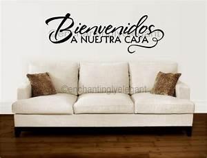 bienvenidos a nuestra casa spanish vinyl decal wall With casa decor letters
