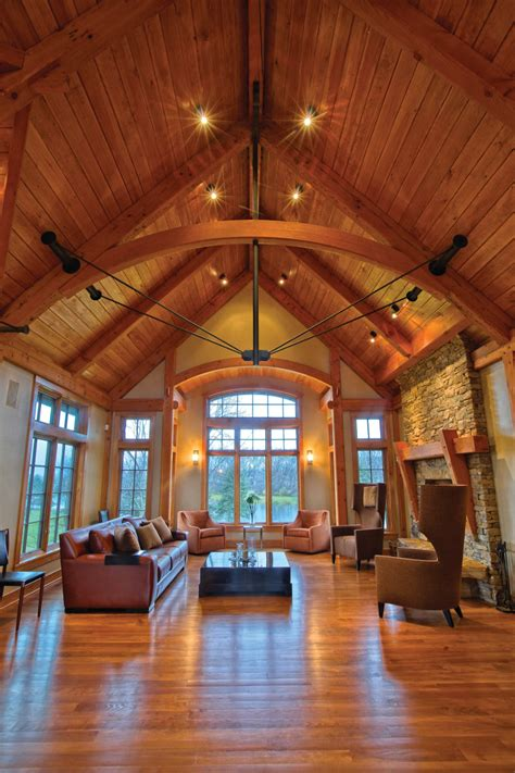 Homes Interior by Timber Frame Timber Frame Home Interiors New Energy Works