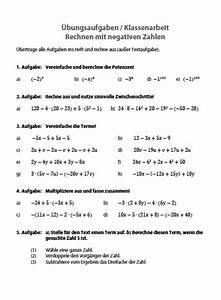 Potenzen Berechnen Ohne Taschenrechner : negative zahlen bungen klasse 6 matheaufgaben mit negativen zahlen ~ Themetempest.com Abrechnung