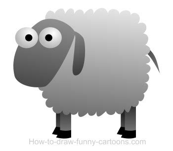 drawing  sheep cartoon