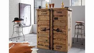 Bar 6909 CONTAINER Von Wolf Mbel Massivholz Sheesham Natur