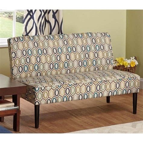 Armless Settee Bench by Modern Classic Multi Color Upholstery Armless Loveseat