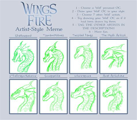 Wings Of Fire Memes - wings of fire artist style meme by shallowpond on deviantart