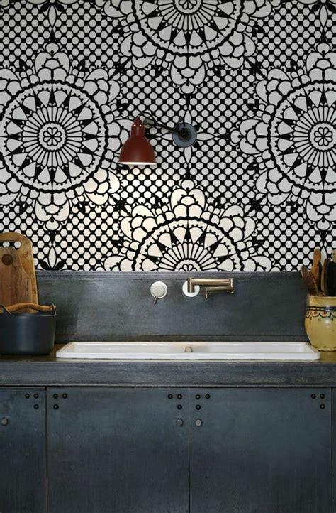 papier peint cuisine gris les 25 meilleures idées concernant papier peint rustique