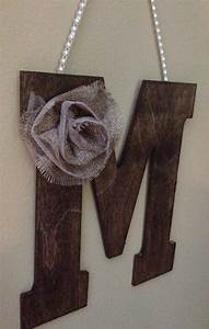 rustic 10quot wooden letter wedding decor letter m on etsy With wooden letter m for wall