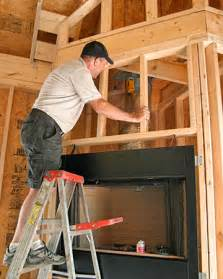 Installing Wood Burning Fireplace Insert by Wood Fireplace Install