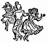 Square Dance Clip Clipart Dancing Silhouette Cliparts Library Clipground Clothing Border sketch template