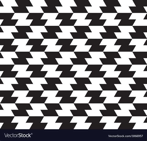 Abstract Black White Pattern by Black White Abstract Geometric Seamless Pattern Vector Image