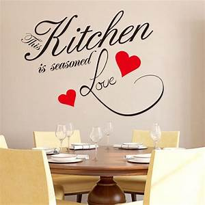 image gallery kitchen wall decals removable With kitchen colors with white cabinets with sticker wall art quotes