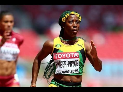 Running in an empty stadium in kingston at the joa/jaaa's destiny series, she decimated the field in the first of three heats from a rocket start, to finish ahead of former world championship finalist natasha morrison. Shelly ann Fraser Pryce 100m final 2015 Beijing - YouTube
