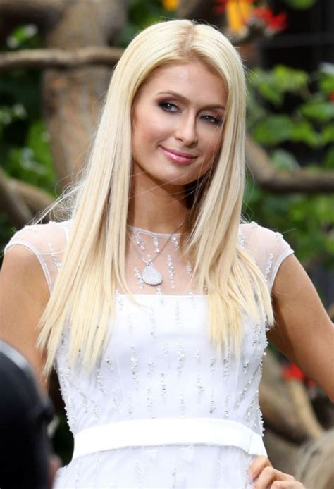 paris hilton casual long blonde hairstyle hairstyles weekly