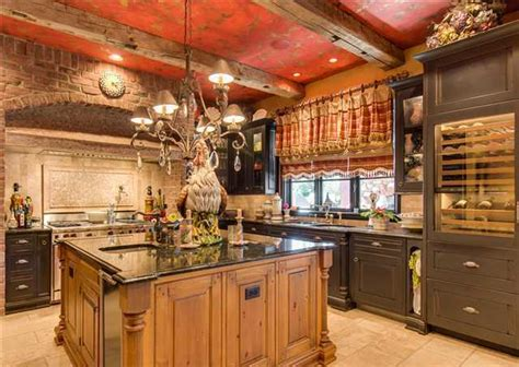 decorating kitchen countertops ideas luxury country kitchen with reclaimed wood exposed brick