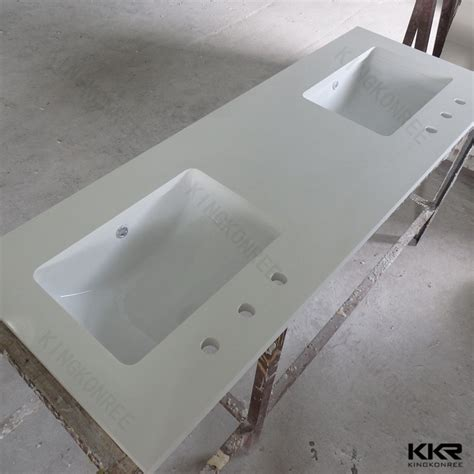 Molded Double Sink Commercial Bathroom Vanity Tops   Buy