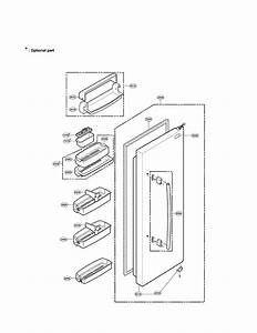 Lg Refrigerator Freezer Door Part Parts