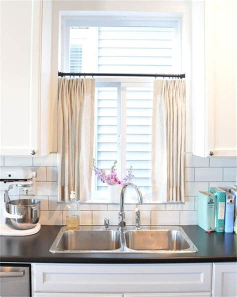 Kitchen Curtain Ideas Above Sink by Half Window Curtains To Create Sophistication In Your Home