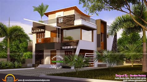 Modern Residence House Plan Ideas In 3d And 2d Drawings