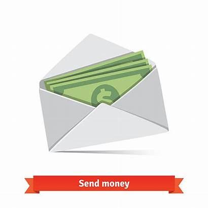 Envelope Money Vector Clip Clipart Illustrations Dollar